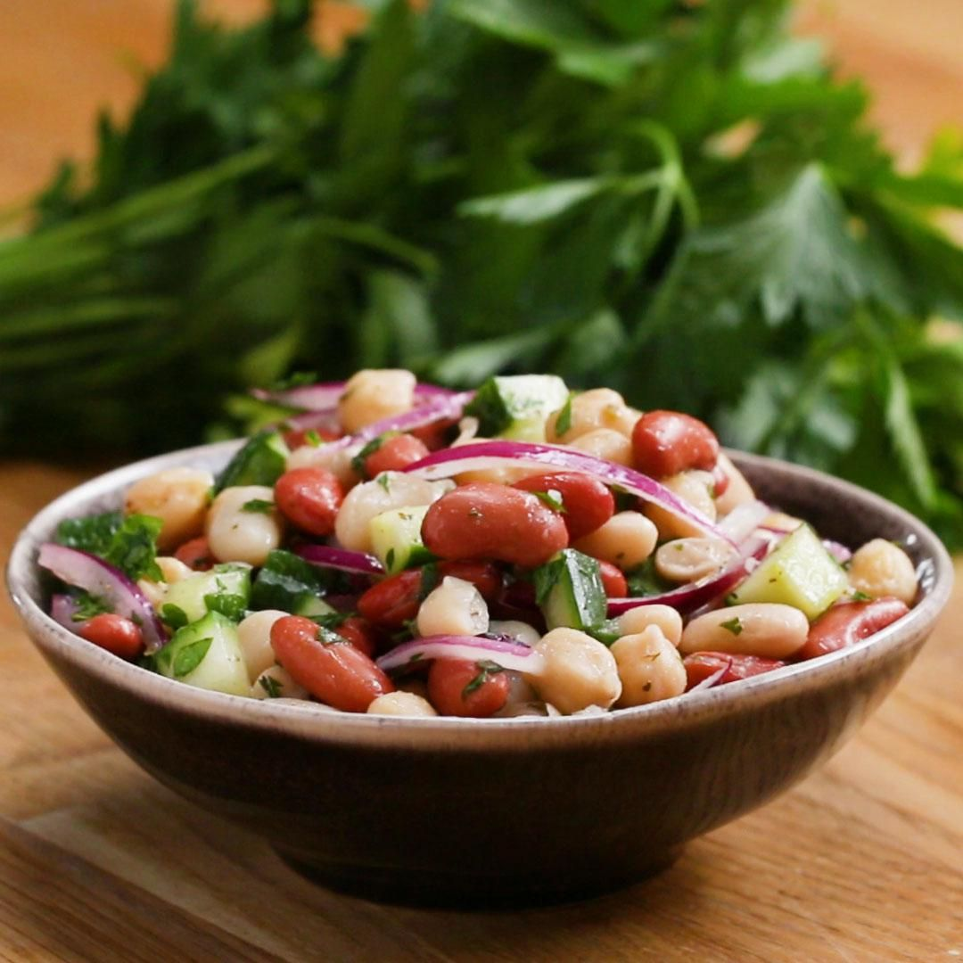 Three Bean Salad Recipe By Tasty Recipe Bean Salad Recipes Bean Salad Three Bean Salad