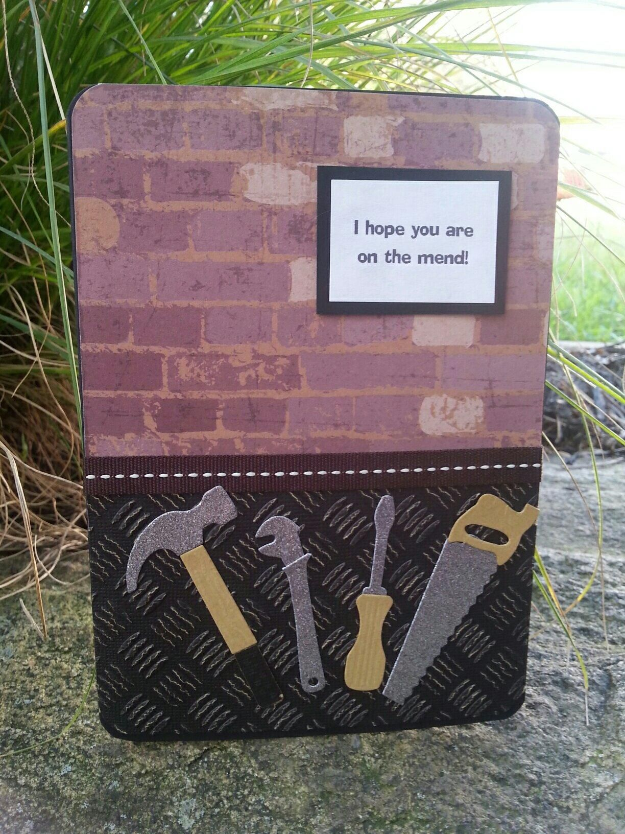 Get well card. Sara's Signature Just For Men Collection from Crafter's Companion