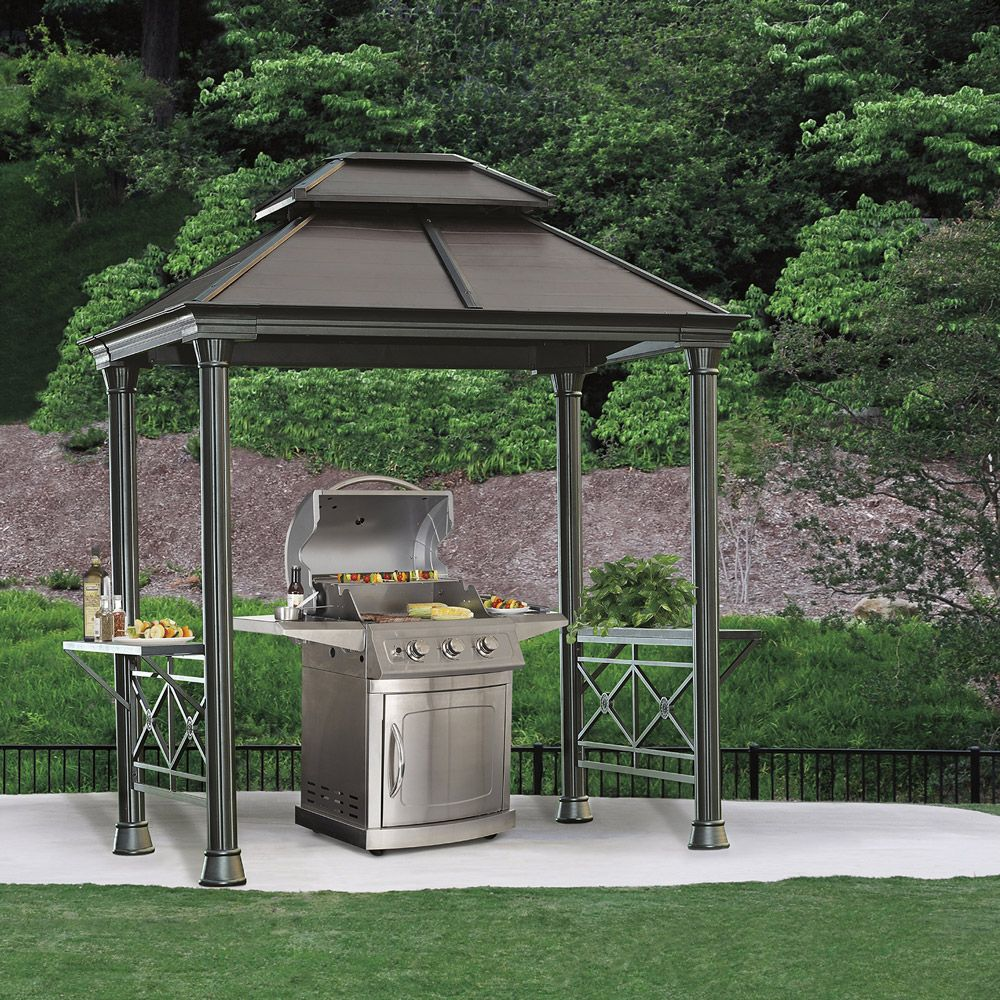 Aluminium Gazebo From Costco Intended As A Cover For