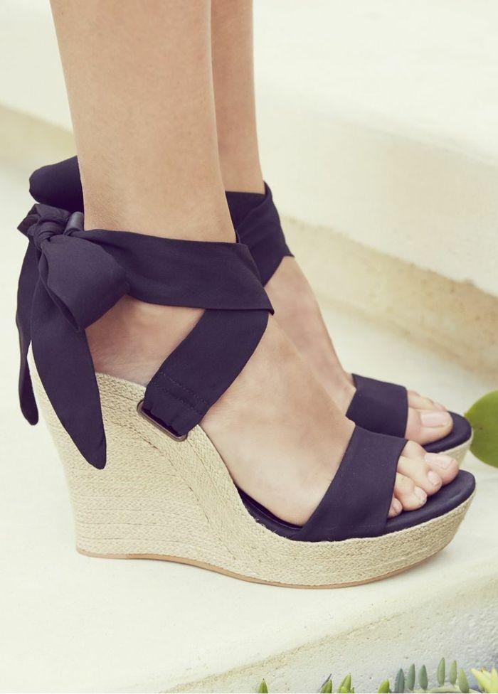 Été Nouveau Femmes Sandales Mode Chaussures Compensées dames blanches sexy Slipper en cuir,Orange,36