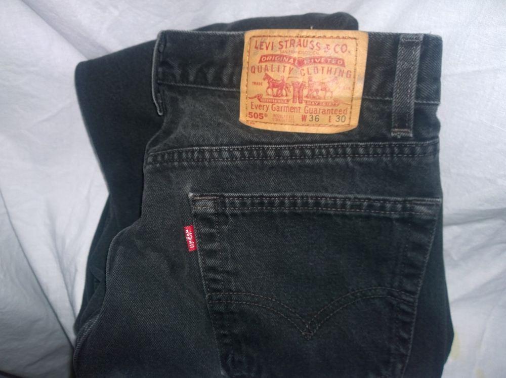 Black levi jeans ebay