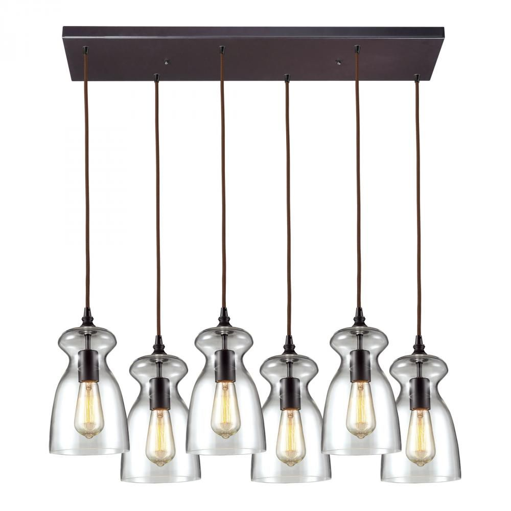Menlow Park 6 Light Pendant In Polished Chrome A