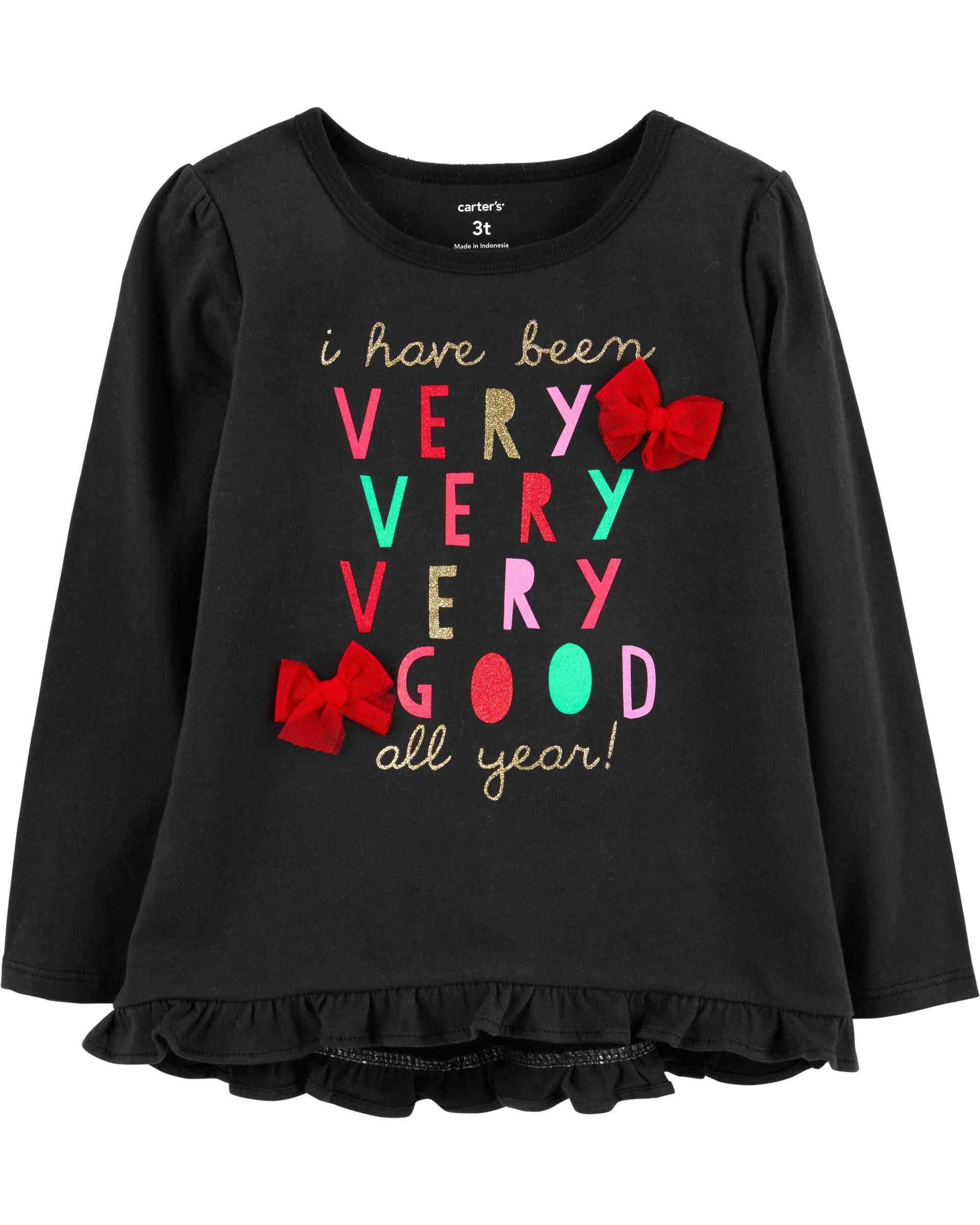 cb4b05c8e Baby Girl Christmas Hi-Lo Ruffle Tee