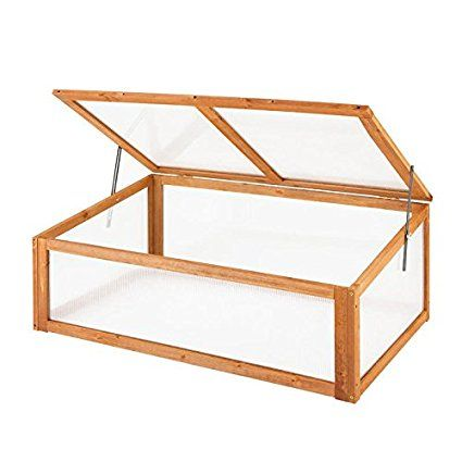 Oypla Wooden Garden Plant Vegetable Cold Frame Grow House | Tortoise ...