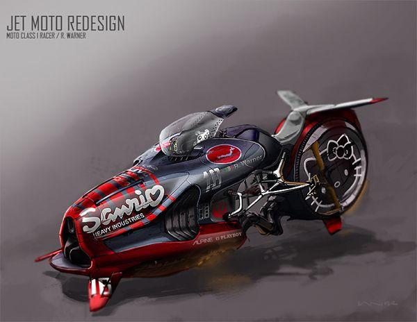 Jet Moto Video Game Redesign Hover Bike Futuristic Cars
