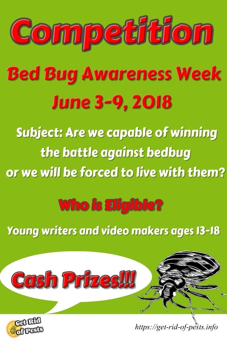 Competition bed bug awareness week 2018 young writers