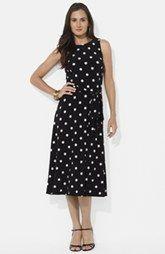 Lauren Ralph Lauren Polka Dot Jersey Fit & Flare Dress