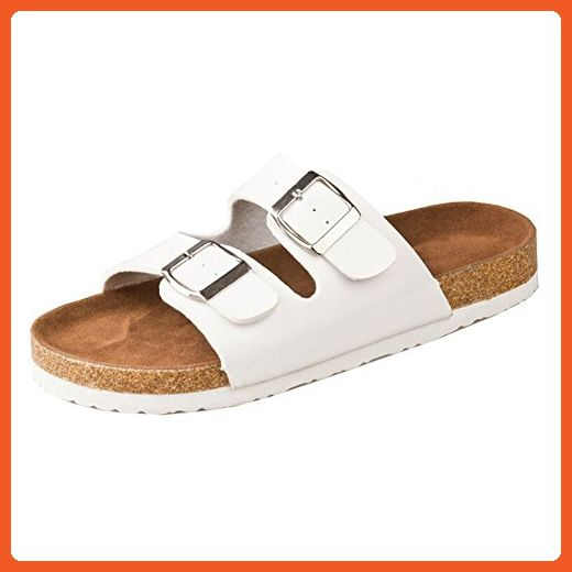 658437b9f SODIAL(R)New cork flats sandals summer unisex casual slippers shoes size 7  White - Slippers for women ( Amazon Partner-Link)