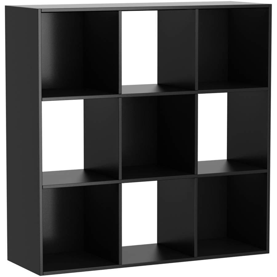 Mainstays 9 Cube Storage Organizer Black Walmart Com Cube Storage Cube Organizer Fabric Storage Cubes