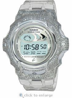 Ladies Jellin Cristall Custom Baby-G ZShock Bezel Watch starting at  895.   zshock  babyg  watch  gshock  women  diamond  bezel  jewelry  clear  casio 70d5836935