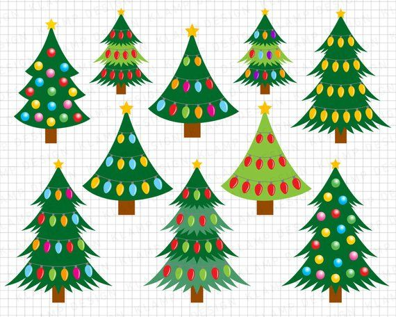 Christmas Clipart Christmas Tree Clipart Christmas Digital Clipart Christmas Ornament Cli Christmas Tree Clipart Christmas Tree Painting Christmas Clipart