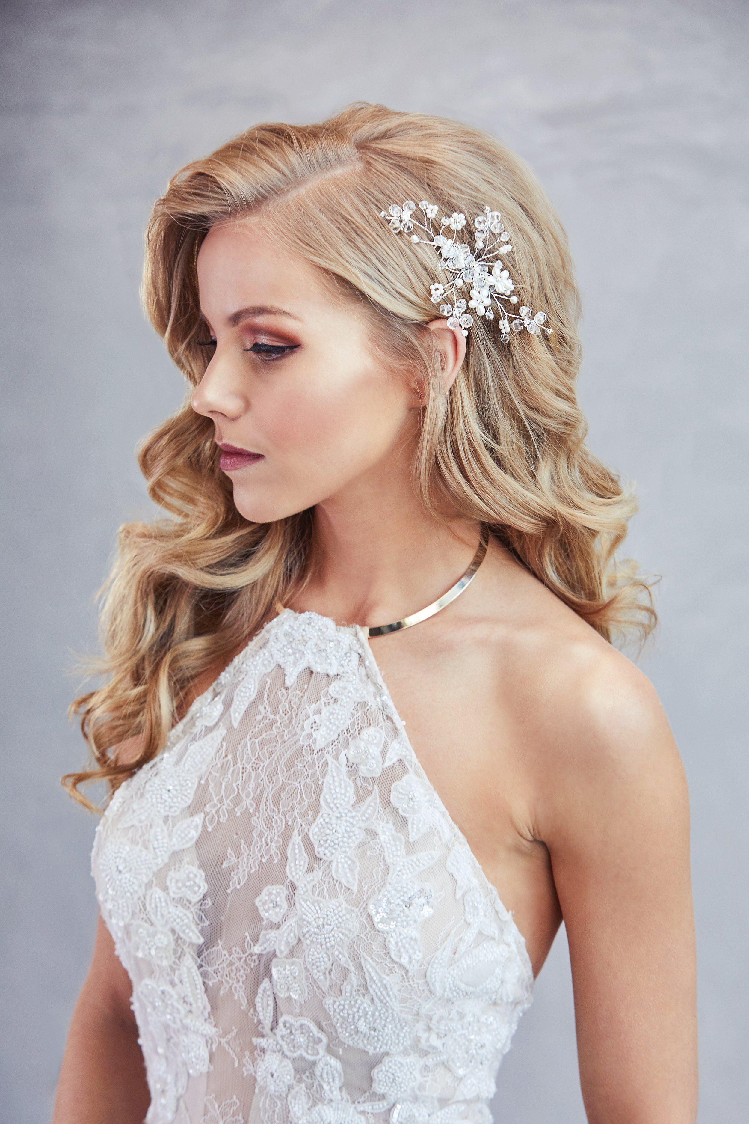 Charla Pearl Hair Comb Wedding Hair Down Bride Hairstyles Wedding Hairstyles For Long Hair