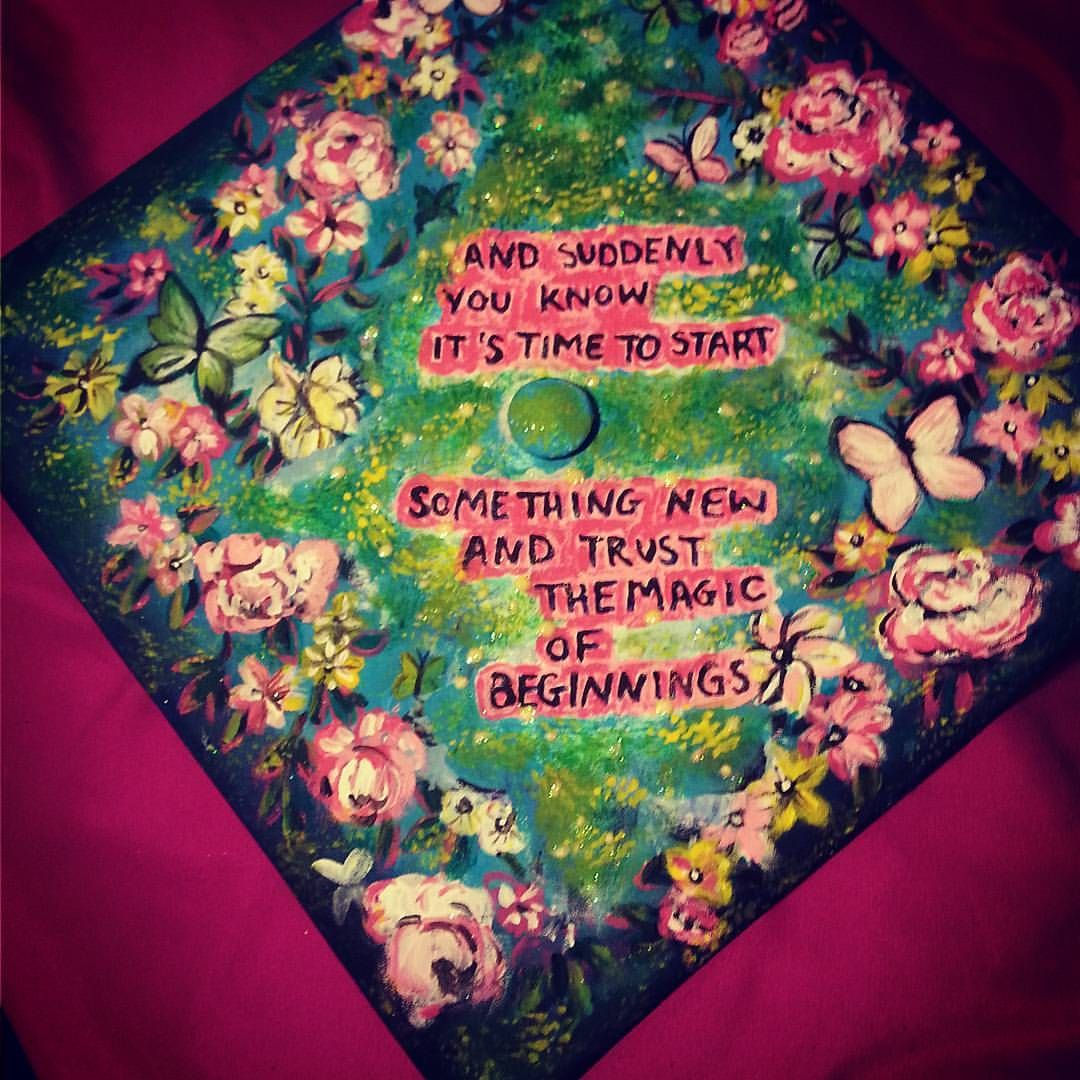 "23 Likes, 3 Comments - @jessiwinham22 on Instagram: ""Graduation cap finished! #graduationcap #crafty"""