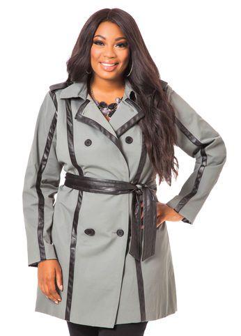 eda8966d66025 Canvas Trench Trendy Plus Size Coats