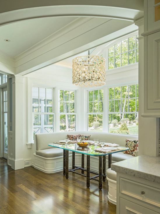 Kitchen And Breakfast Room Design Ideas The Large Windows In This Room Make This Lovely Breakfast Nook