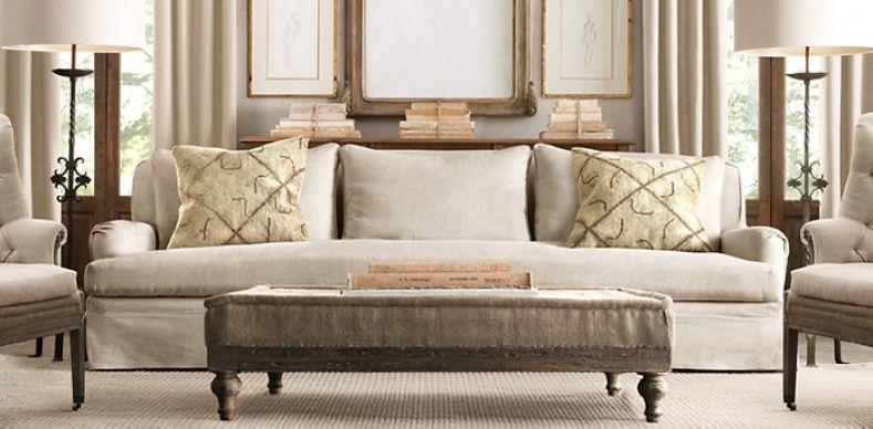 Belgian Linen Sofa Moroni Review Restoration Hardware Decor Pinterest