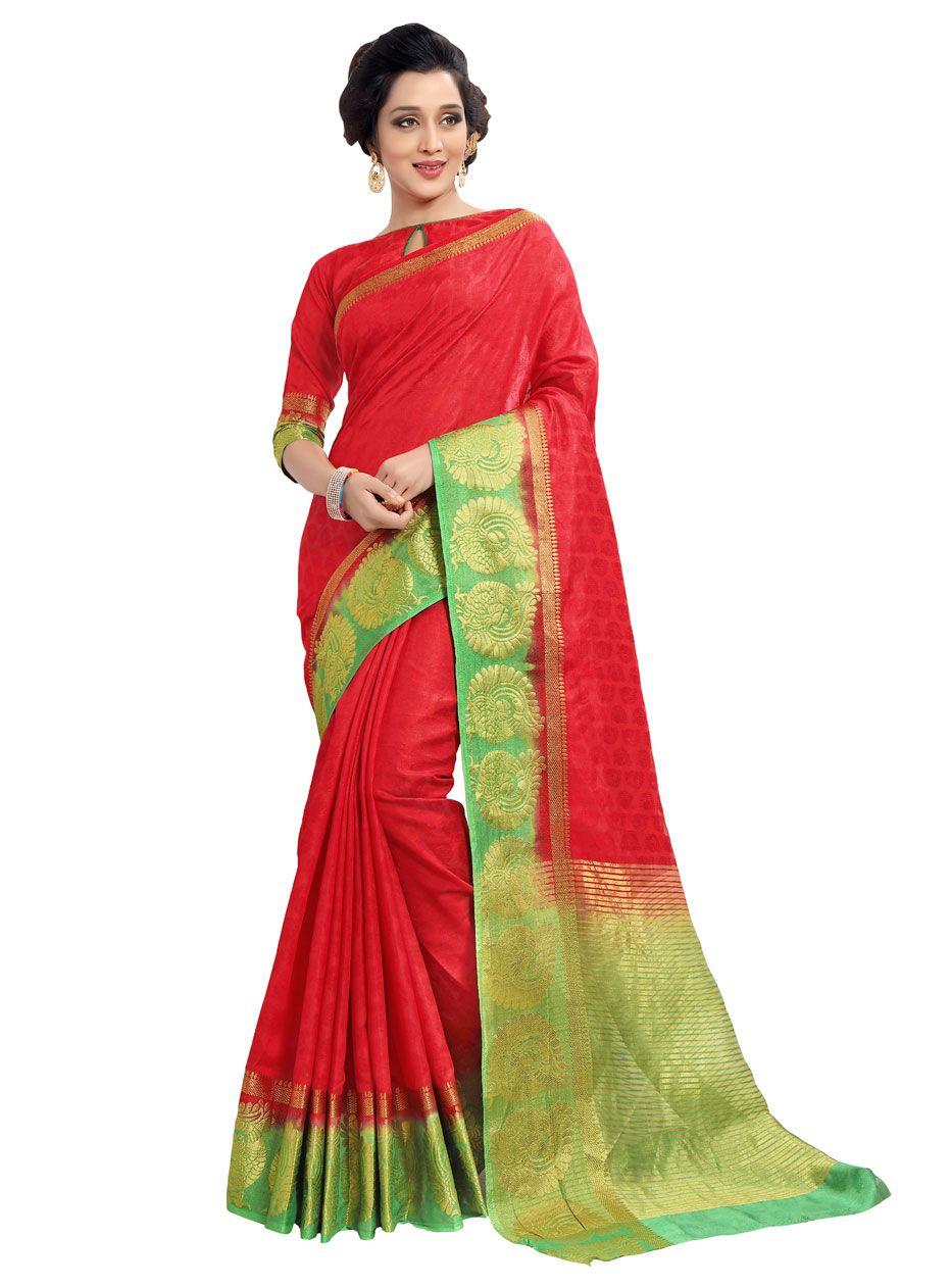 Art kanjivaram silk saree intricated with zari thread and resham