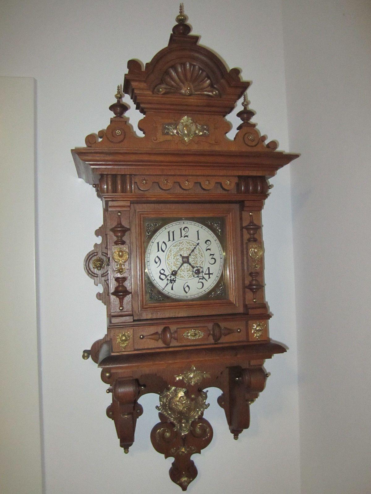 Gutsherren Regulator Lenzkirch Ca 1900 Restauriert Ebay Grandfather Clock Antique Wall Clock Antique Clock