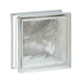 Redi2set 10 Pack Clear Wave Glass Block Common 6 In H X 6 In W X 3 In D Actual 5 75 In H X 5 75 In W X 3 12 In D G Pattern Glass Glass Blocks Wave Pattern