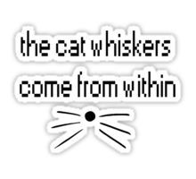 dan and phil whiskers come from within Sticker