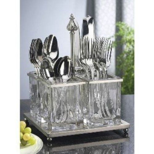 Southern Living At Home Astoria Flatware Caddy Nickel Plated and ...