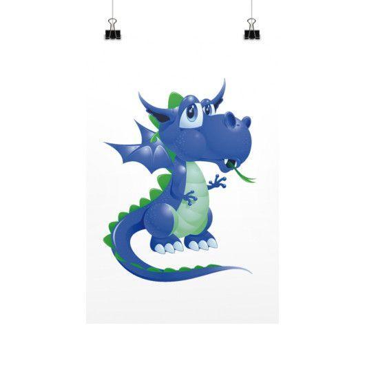 Draco Blue Green Vertical Fine Art Prints (Posters)