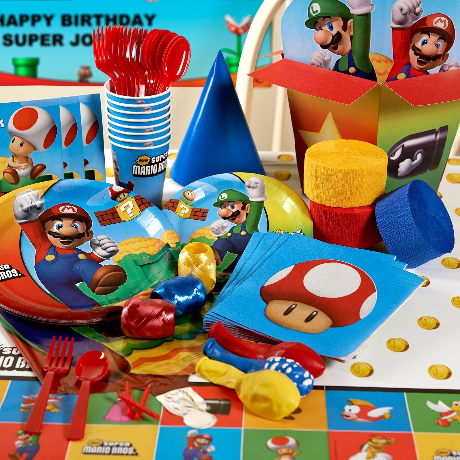 Super Mario Birthday Party Caydens Definite Fifth