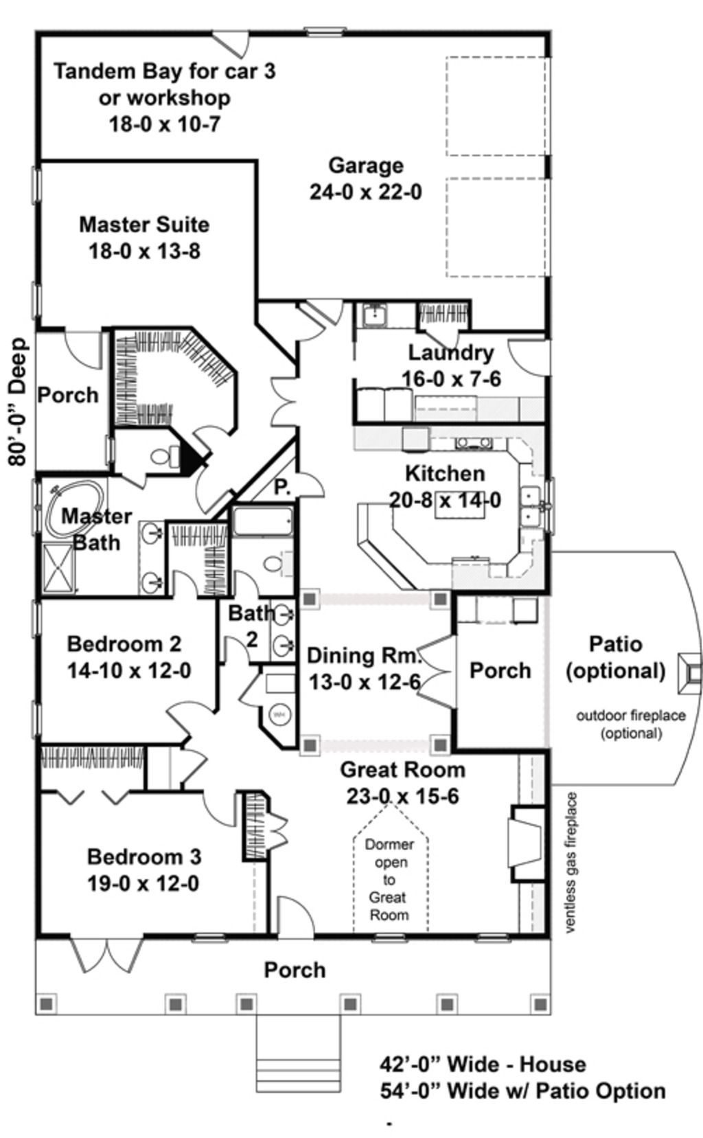 Traditional Style House Plan Beds Baths Plans Floor