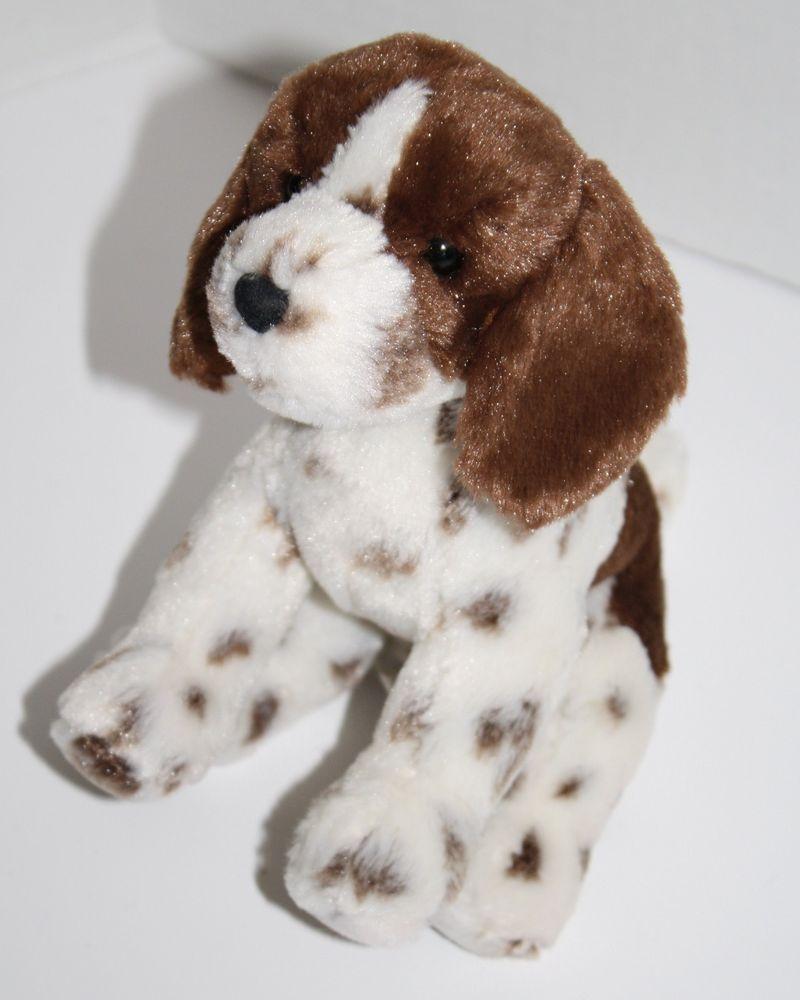 Douglas Plush Dog White Brown Spots Ears 3825 1 Soft Stuffed Animal 7 Long Douglas Soft Stuffed Animals Plush Dog Fur Real Friends