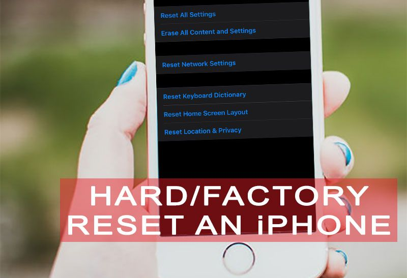 How To Hard Reset Or Factory Reset An Iphone Ipad And Ipod Touch Iphone Tutorial Iphone Homescreen