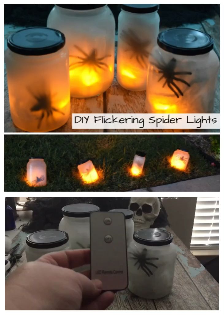 DIY Flickering Spider Lights