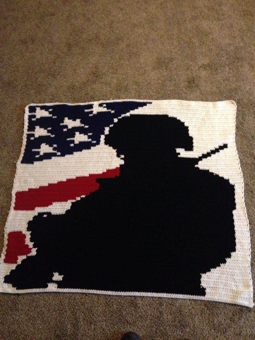 1 st graphgan.. Soldier and flag | My Chrocheted projects | Pinterest