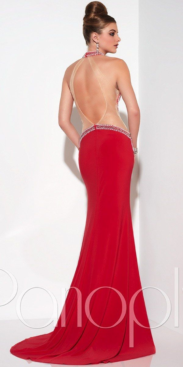 High Neck Open Back Prom Dress Panoply Bridal Formal By Rjs