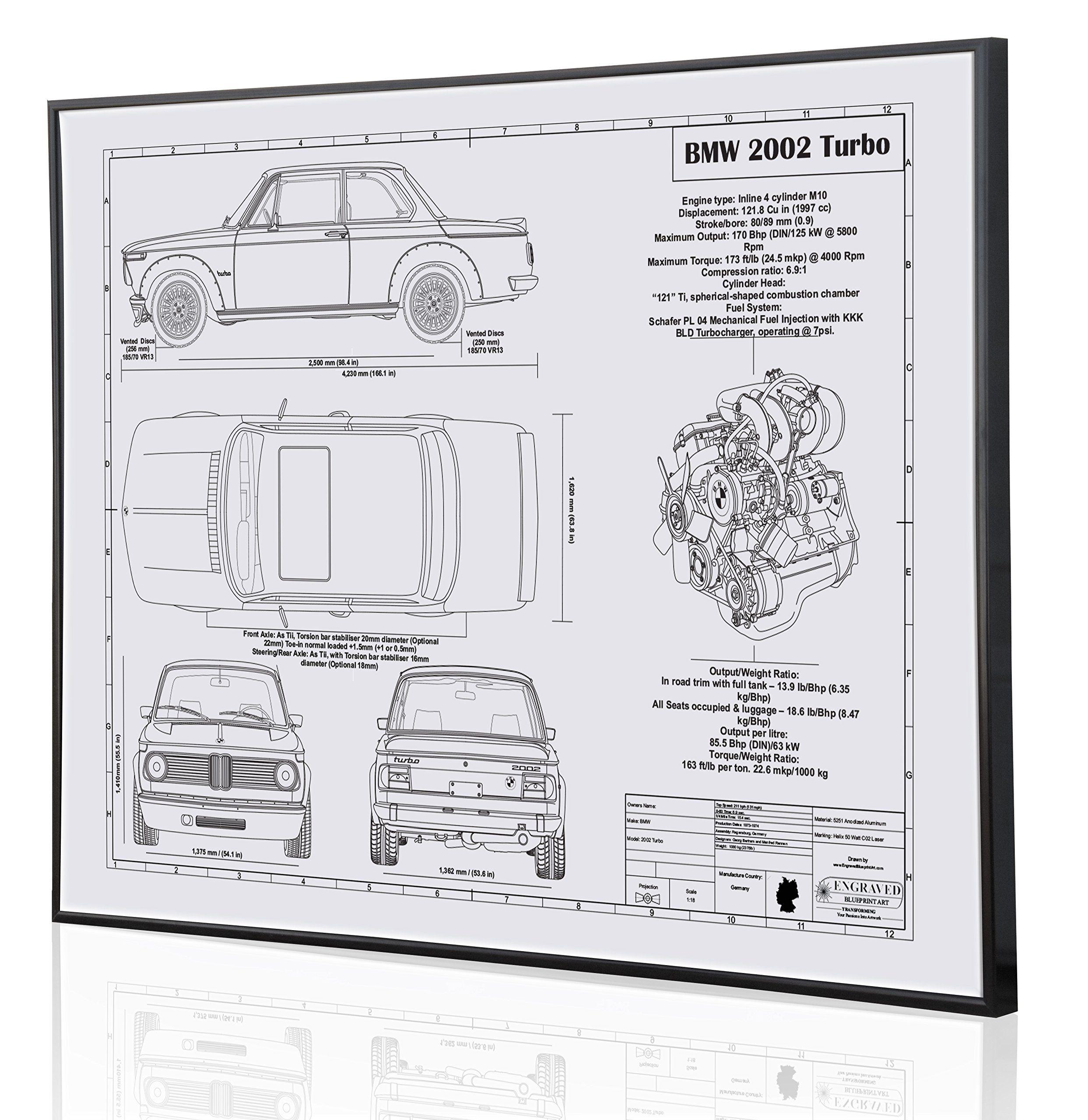 hight resolution of bmw 2002 blueprint artwork laser marked