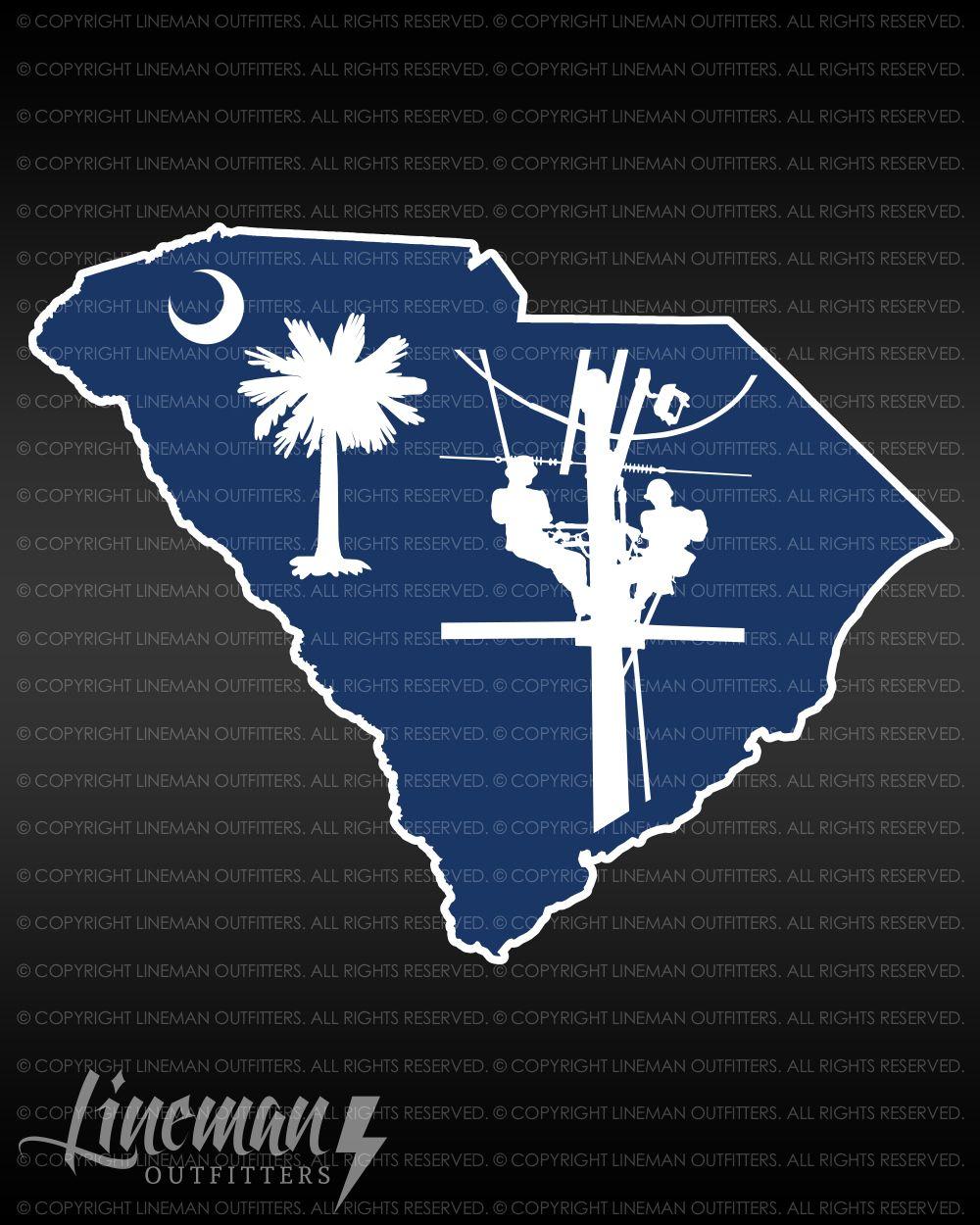 South Carolina Lineman Decal Lineman South Carolina Carolina [ 1250 x 1000 Pixel ]
