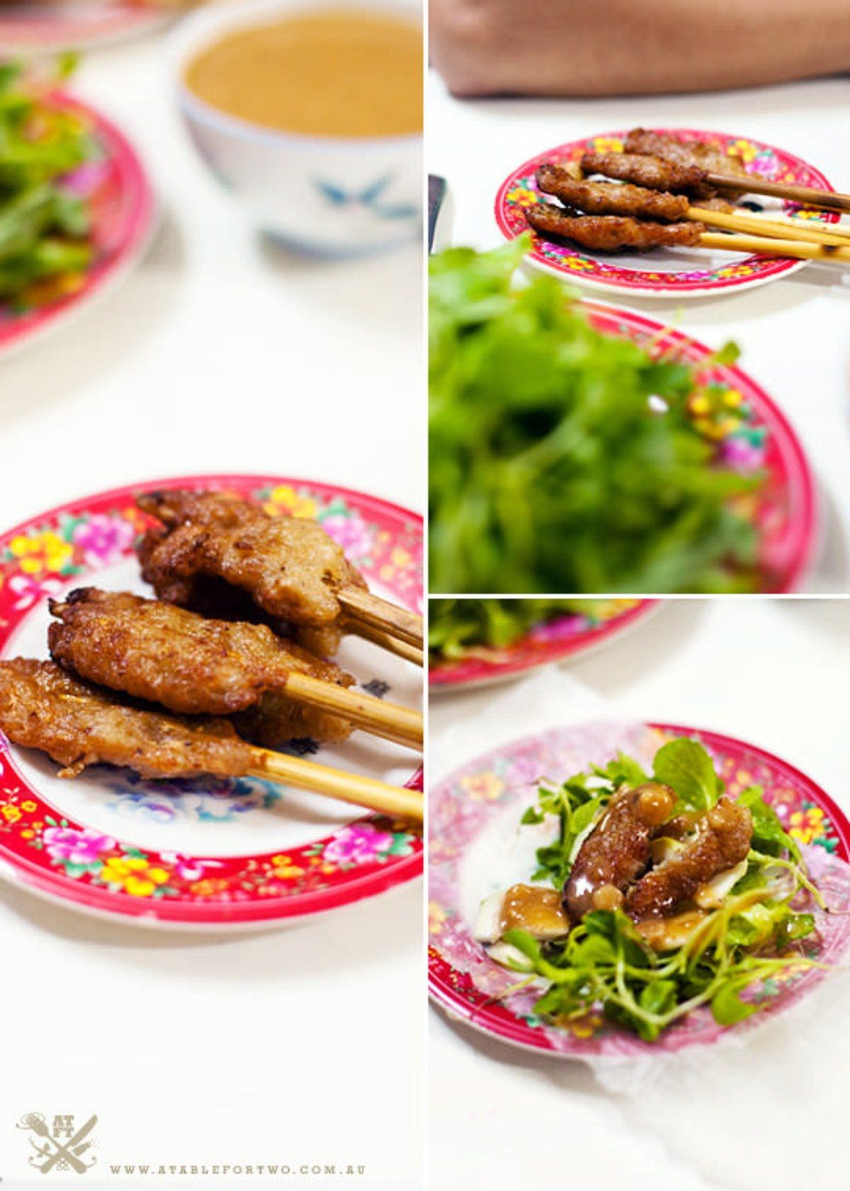 """Postcard from Vietnam (Hue and Ho Chi Minh) {""""Nem Lui"""" minced Pork Marinated with Lemongrass on Stick then Charcoal-Grilled}"""