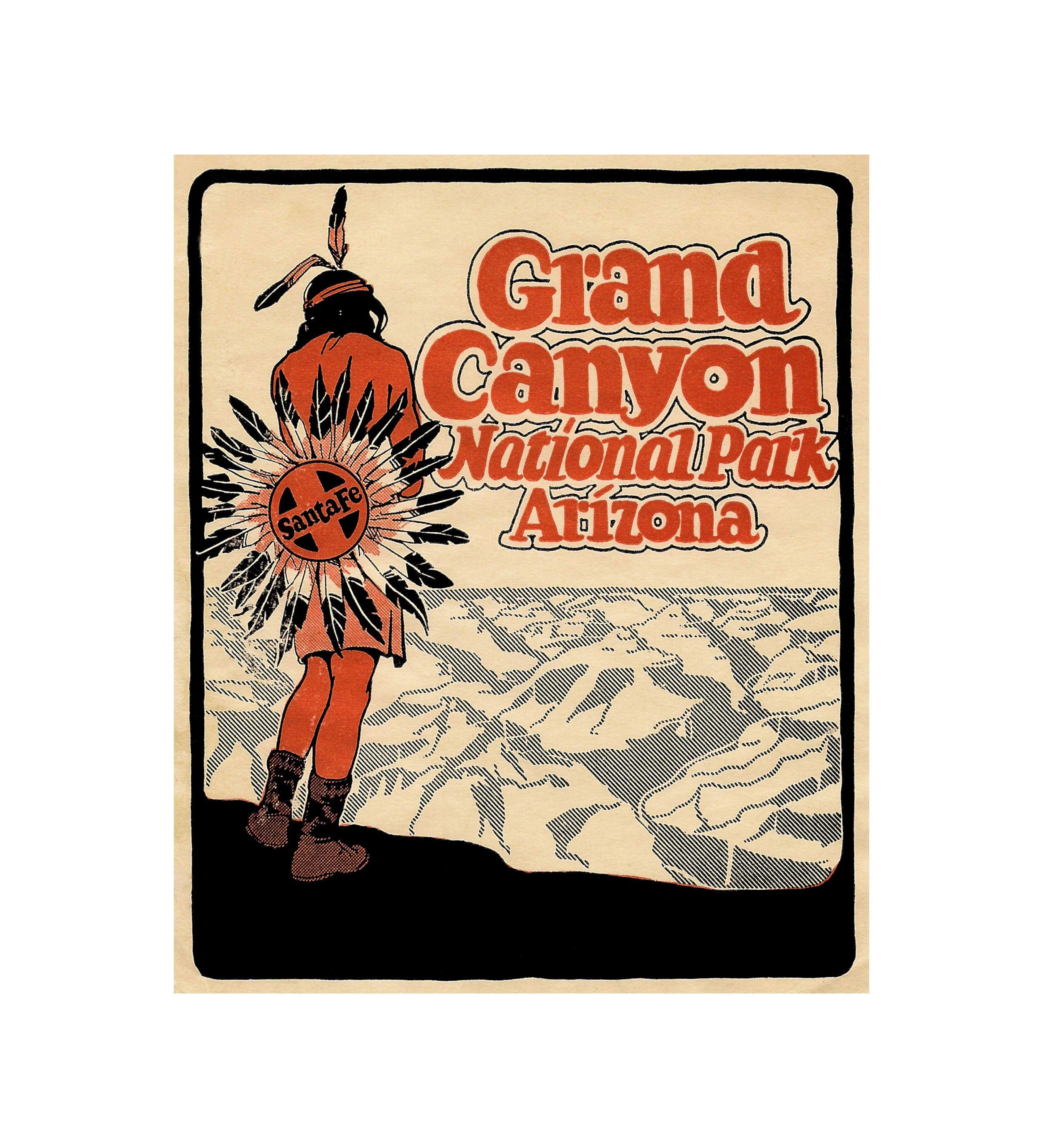 Grand Canyon National Park 1935 Santa Fe Railroad Vintage ...
