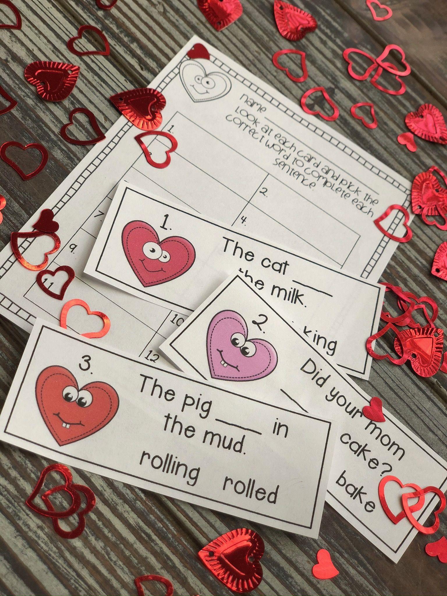 Valentines Day Literacy Center In