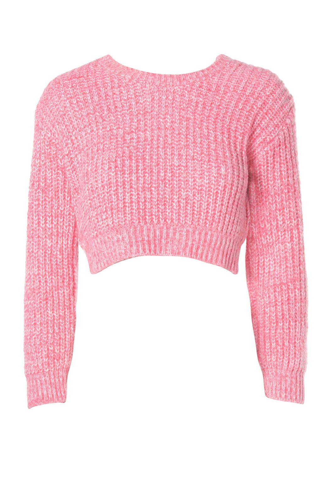 Pink Flecked Knit Cropped Jumper Price: £17.99 | Dresses ...