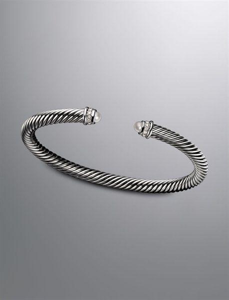 David Yurman Cable Classics Collection Bracelet Pearl 5mm Put