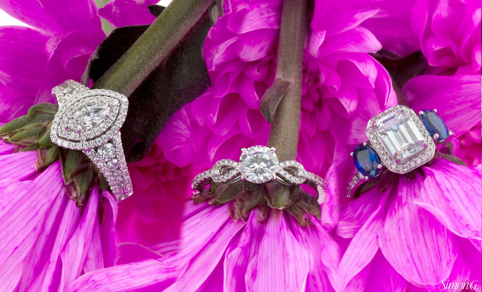 Which ring from Simon G. is brightening your day? ✨ (R to L MR2409 ...