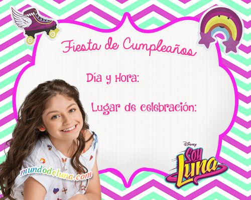 Invitaciones De Cumpleanos Soy Luna Para Descargar Tarjetas