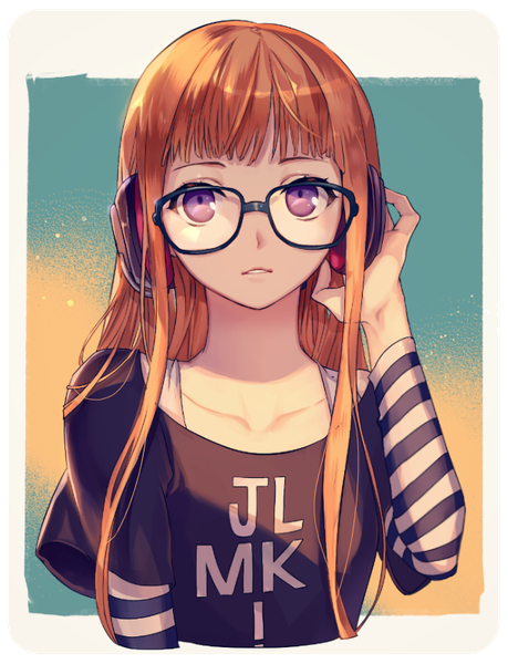 Anime Characters Orange Hair : Anime picture with persona sakura futaba