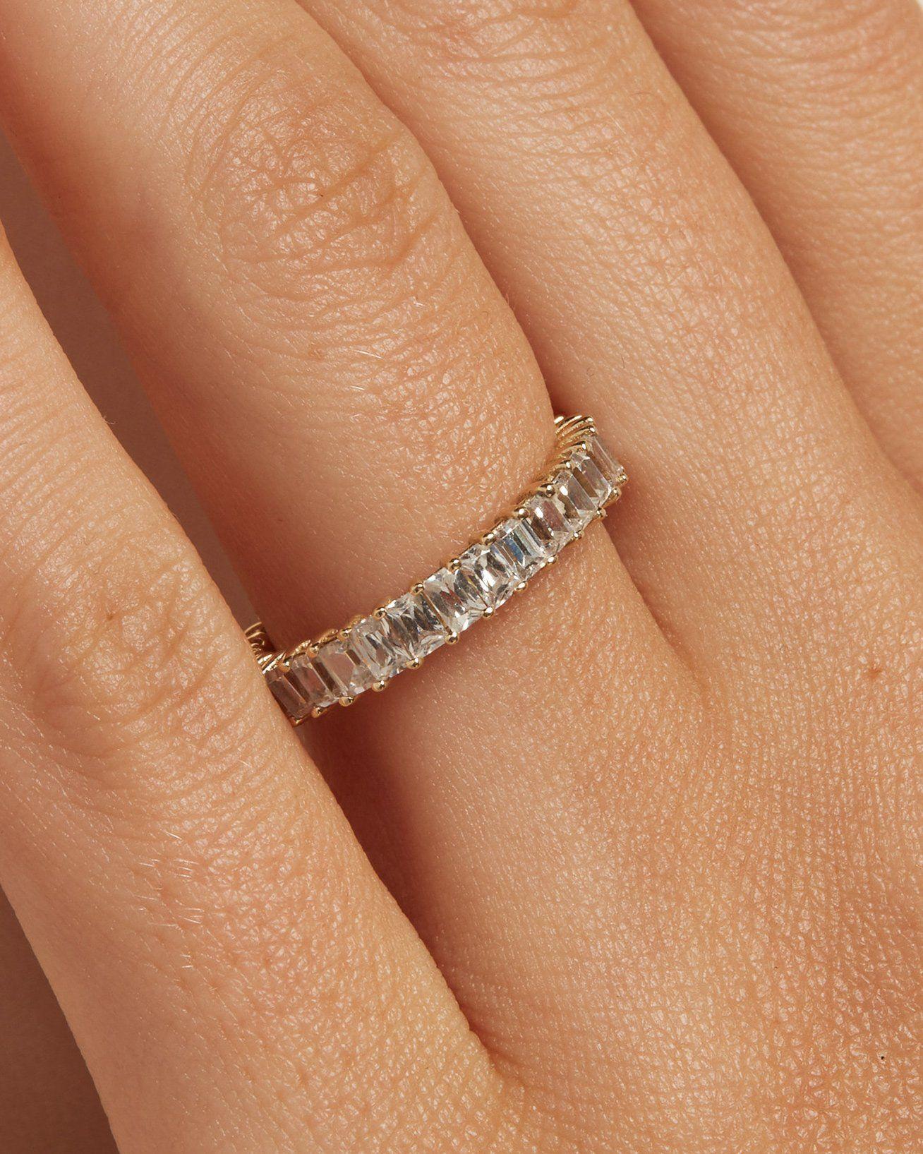 The Ballier Ring- Emerald-Cut 2x3 mm – Après Jewelry