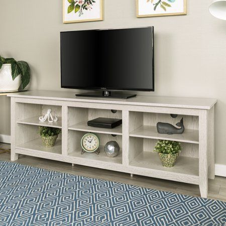 Manor Park Wood TV Media Storage Stand for TVs up