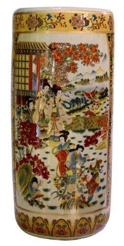Japanesesatsuma Porcelain Umbrella Stand In Satsuma Japan S 2