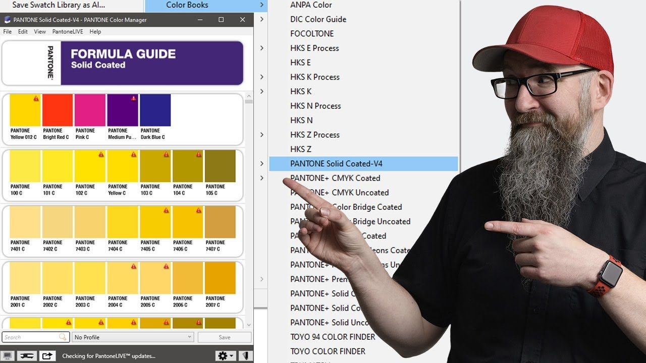 How To Update The Pantone Colour Book Swatches In Adobe Illustrator Pho Pantone Color Book Coloring Books Pantone Color