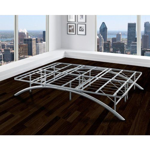 This Queen Size Bed Frame From Arch Flex Offers Support Up To 3000 Pounds A Silver Finish And Steel M Metal Platform Bed Platform Bed Frame Full Platform Bed