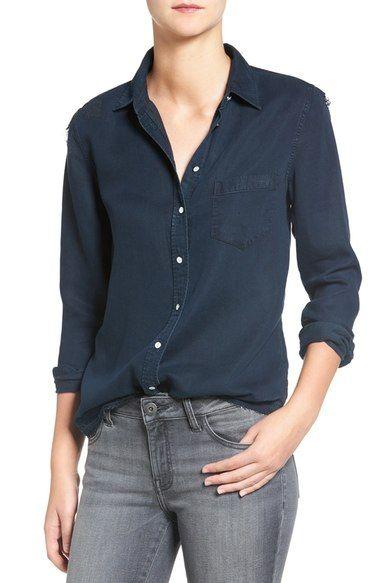 DL1961 'Mercer & Spring' Distressed Chambray Shirt. #dl1961 #cloth #