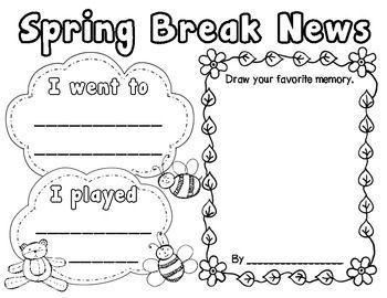#Break #news #Spring Spring Break News ~ Teacher Laura
